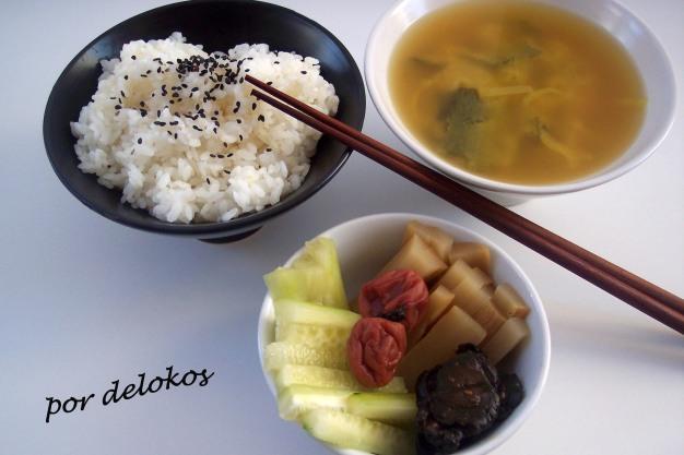 Una comida frugal japonesa