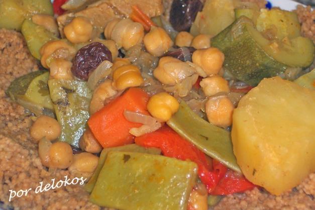 Cuscús de verduras con seitán