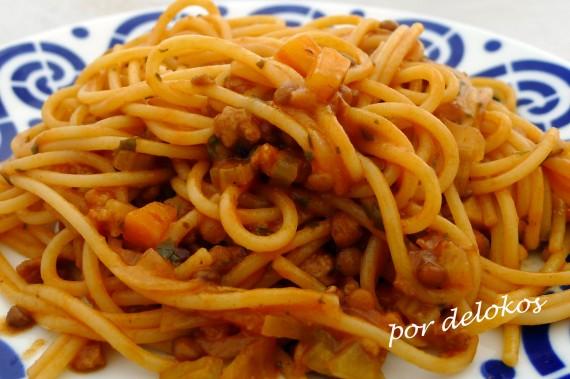 Salsa boloñesavegetariana, por delokos