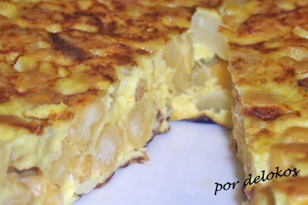 Tortilla española de garbanzos