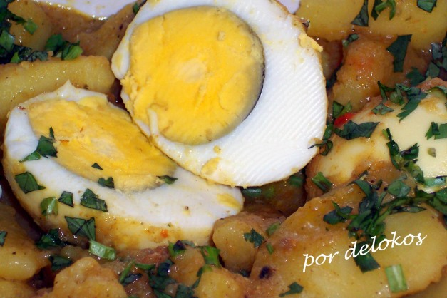 Curry de huevos