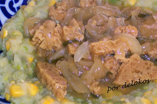 Nyama na irio versión vegetariana
