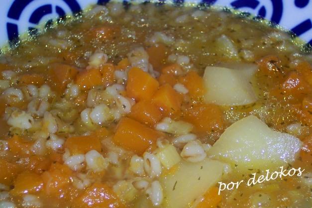 Sopa de invierno con cebada