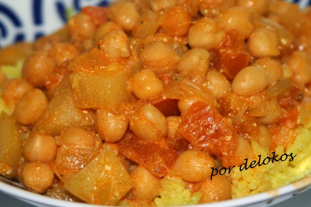 Curry vindaloo de garbanzos