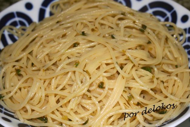 Spaghetti a la meunière