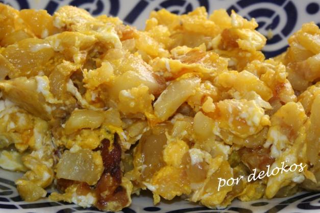 Tortilla de patatas rota