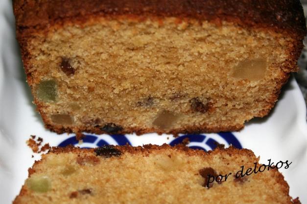 Cake con frutas y aceite de oliva