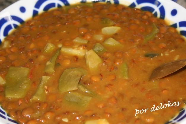 Toor dal - Dal de lentejas con verduras