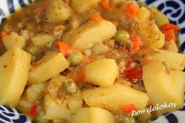 Guiso de patatas con seitán