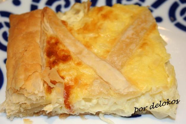 Tarta de requeixo y cebolla