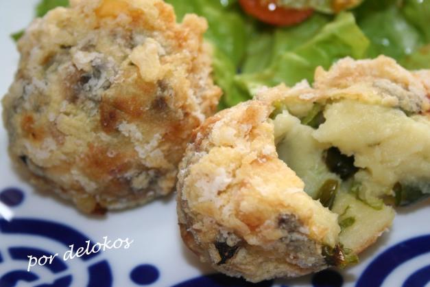 Croquetas de patata y pimiento verde