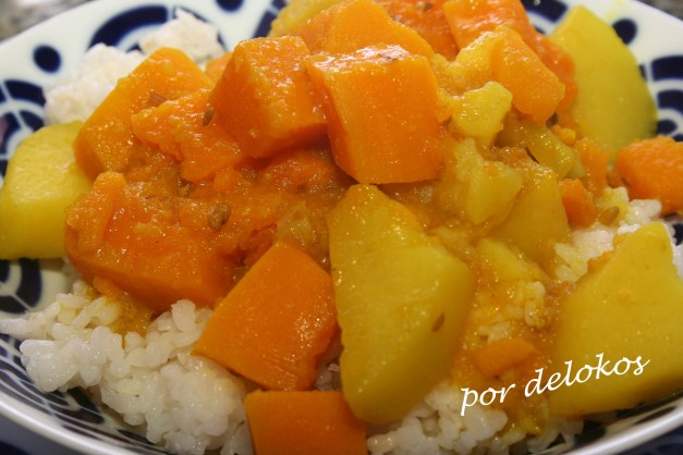 Curry de calabaza potimarrón