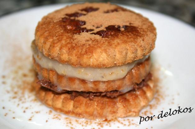 Tarta vegana de galletas