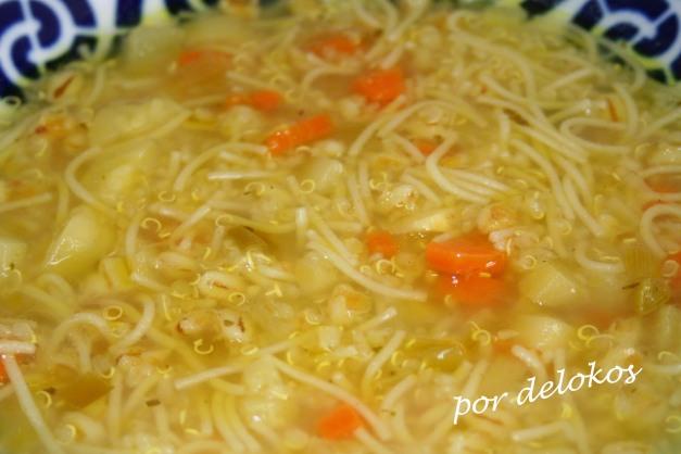 Sopa multicereales con verduras