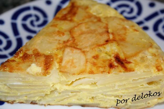 Tortilla de patatas crudas