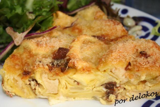 Frittata de tortellini y queso San Simón