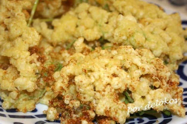 Flores de saúco en tempura