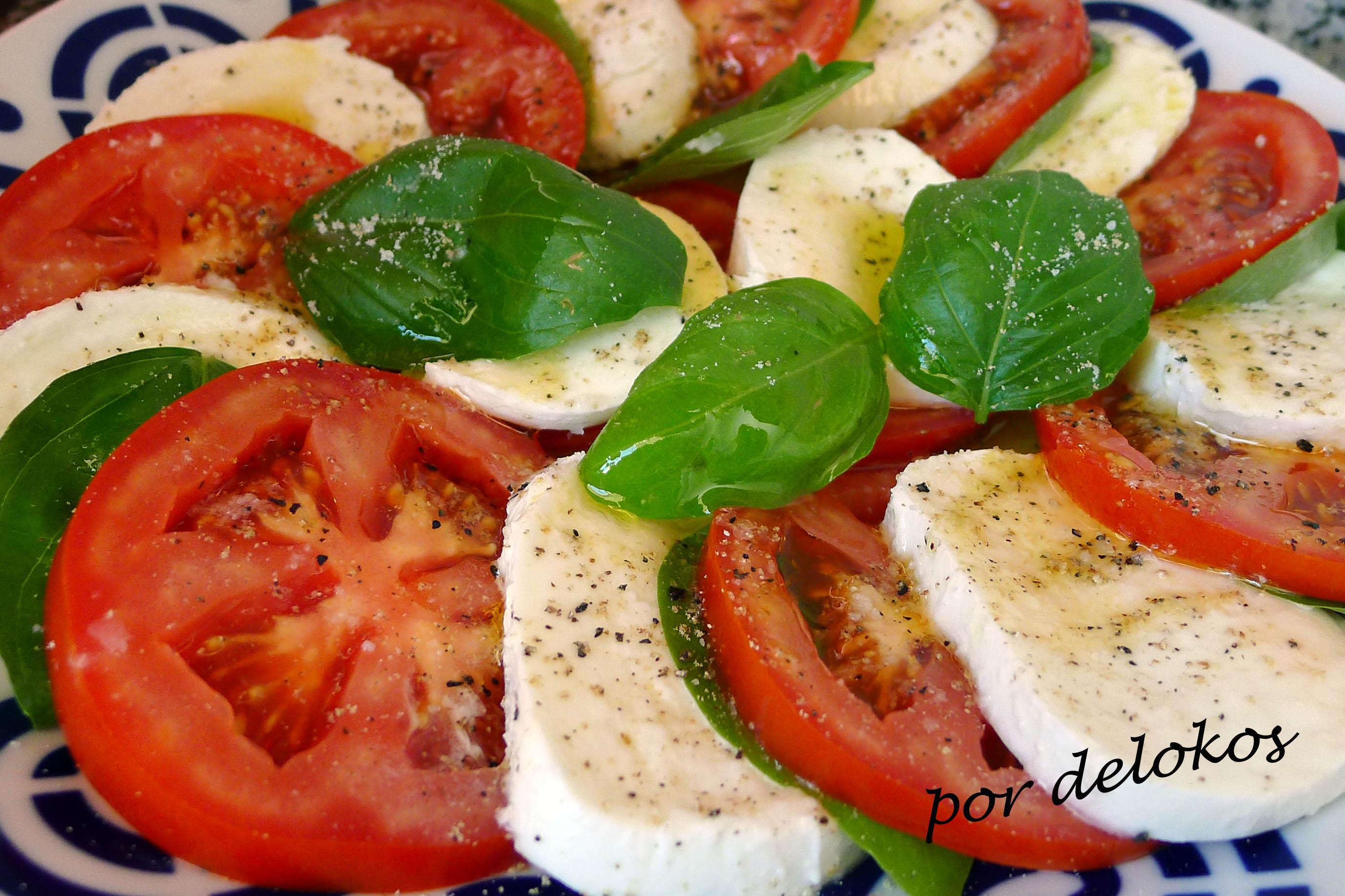 Ensalada caprese delokos for Decoracion de ensaladas