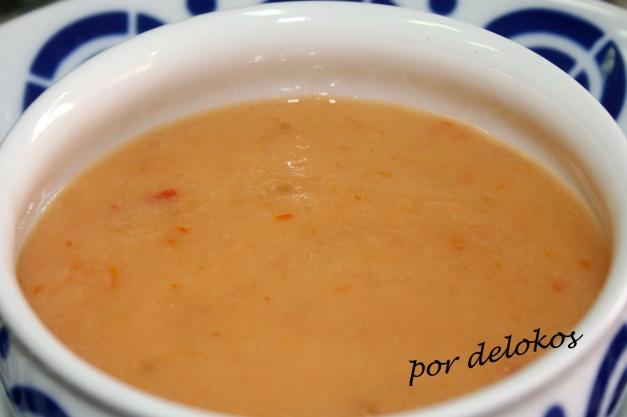 Gazpacho de melón y tomates secos