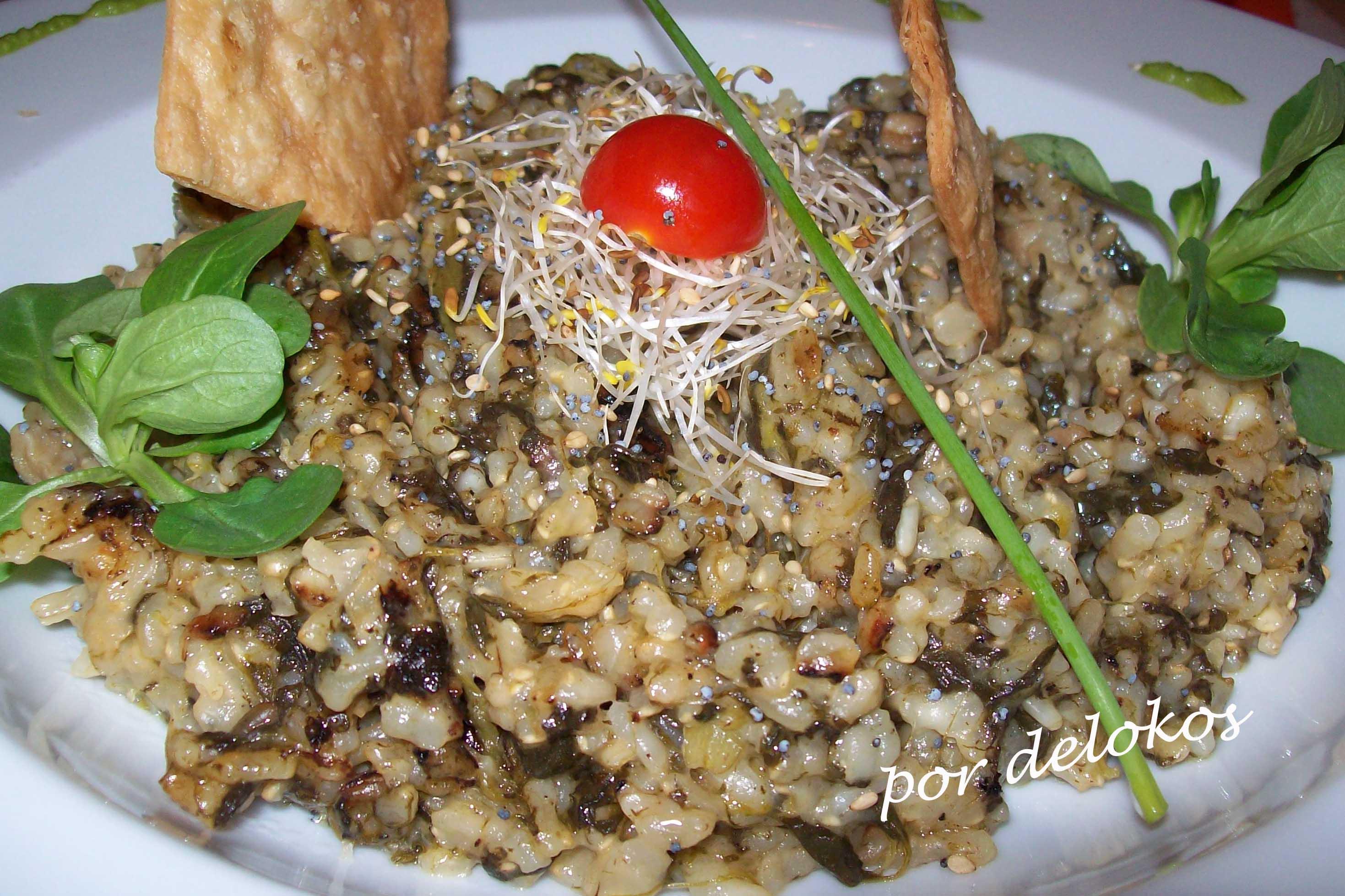Restaurante vegetariano yerbabuena madrid delokos - Risotto arroz integral ...