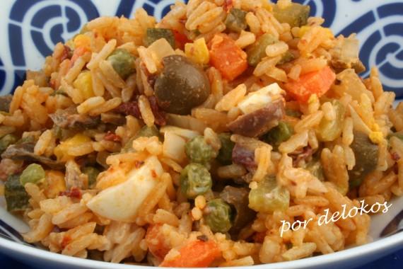 Ensaladilla de arroz, por delokos