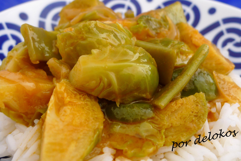 Como Cocinar Coles De Bruselas | Curry De Judias Verdes Y Coles De Bruselas Delokos