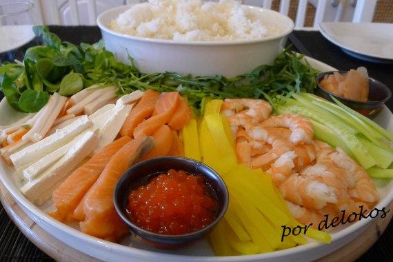 Sushi en casa, por delokos