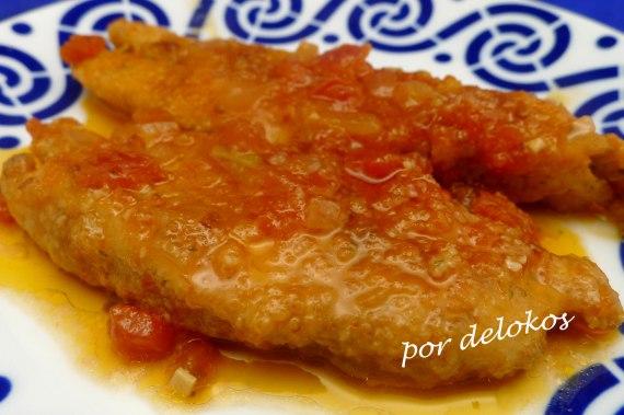 Castañeta con tomate, por delokos