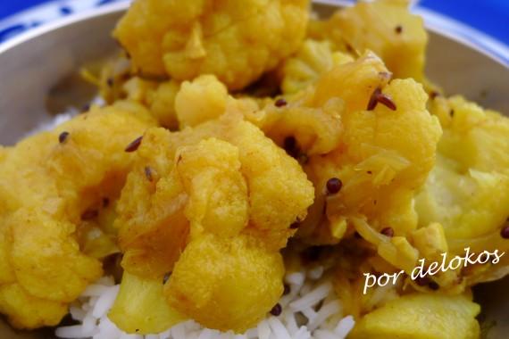 Curry de coliflor, por delokos