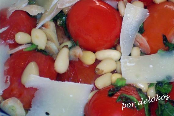 Tomates cherry salteados, por delokos
