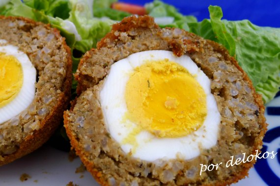 Huevos escoceses vegetarianos, por delokos