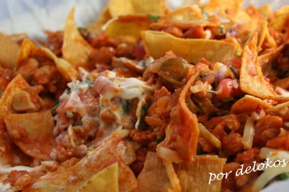 Walking tacos vegetarianos, por delokos