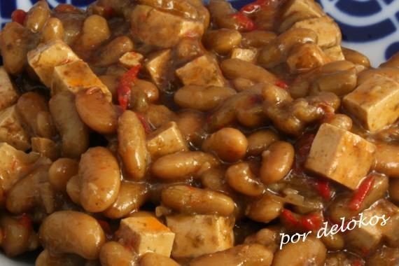 Verdinas con tofu y kombu de azúcar, por delokos