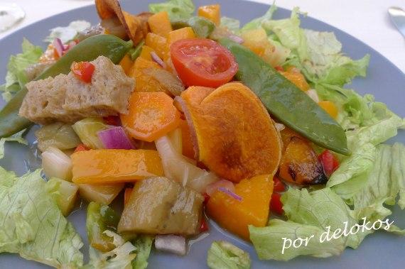 Salteado de verduras con seitán copia