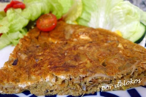 Tortilla de alcachofas, por delokos