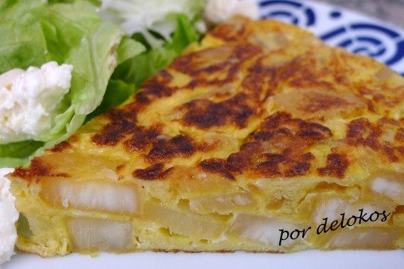 Tortilla española de yuca, por delokos