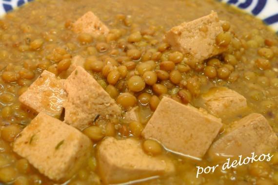 Lentejas con amaranto y tofu japonés, copia