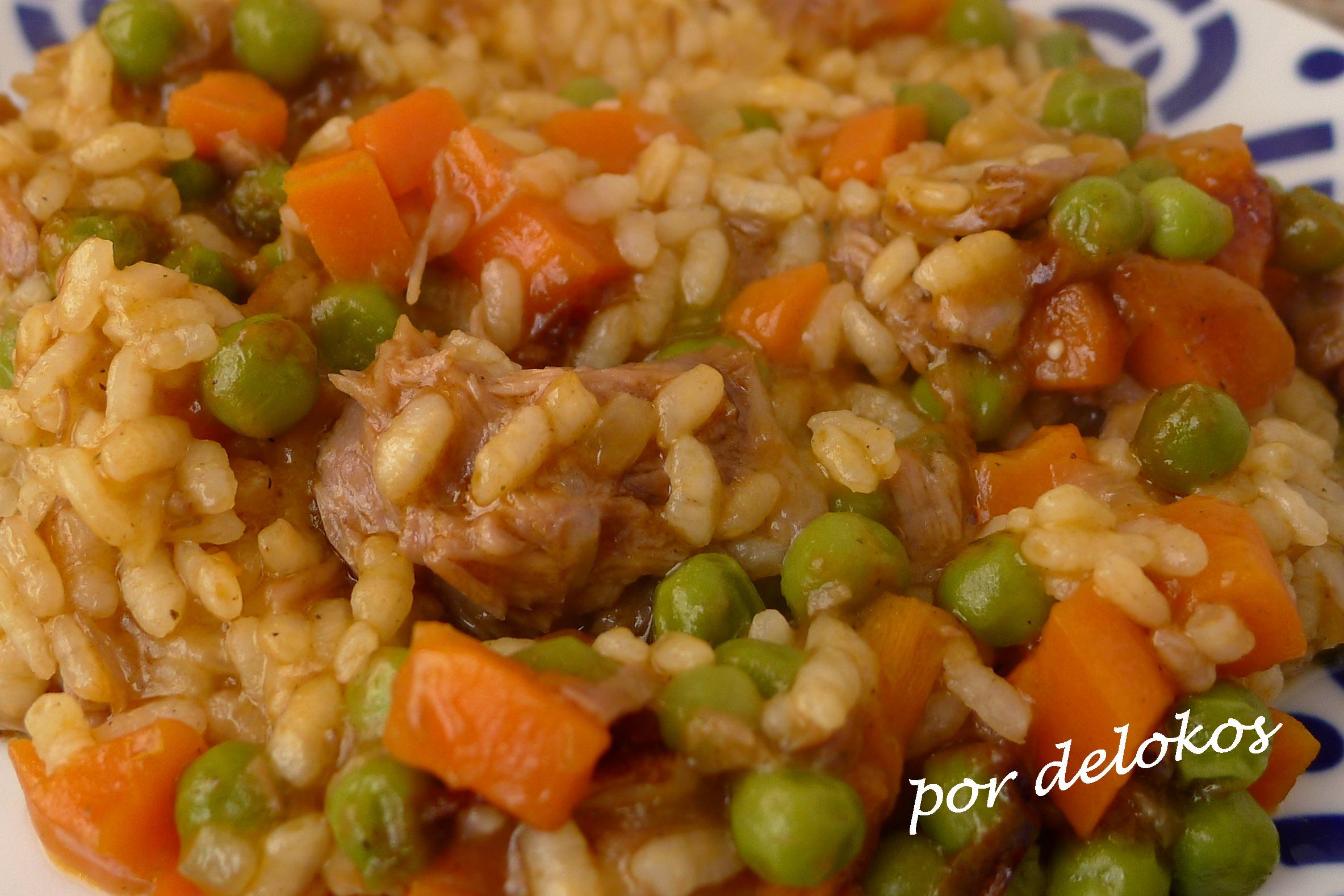 arroz con carne guisada delokos