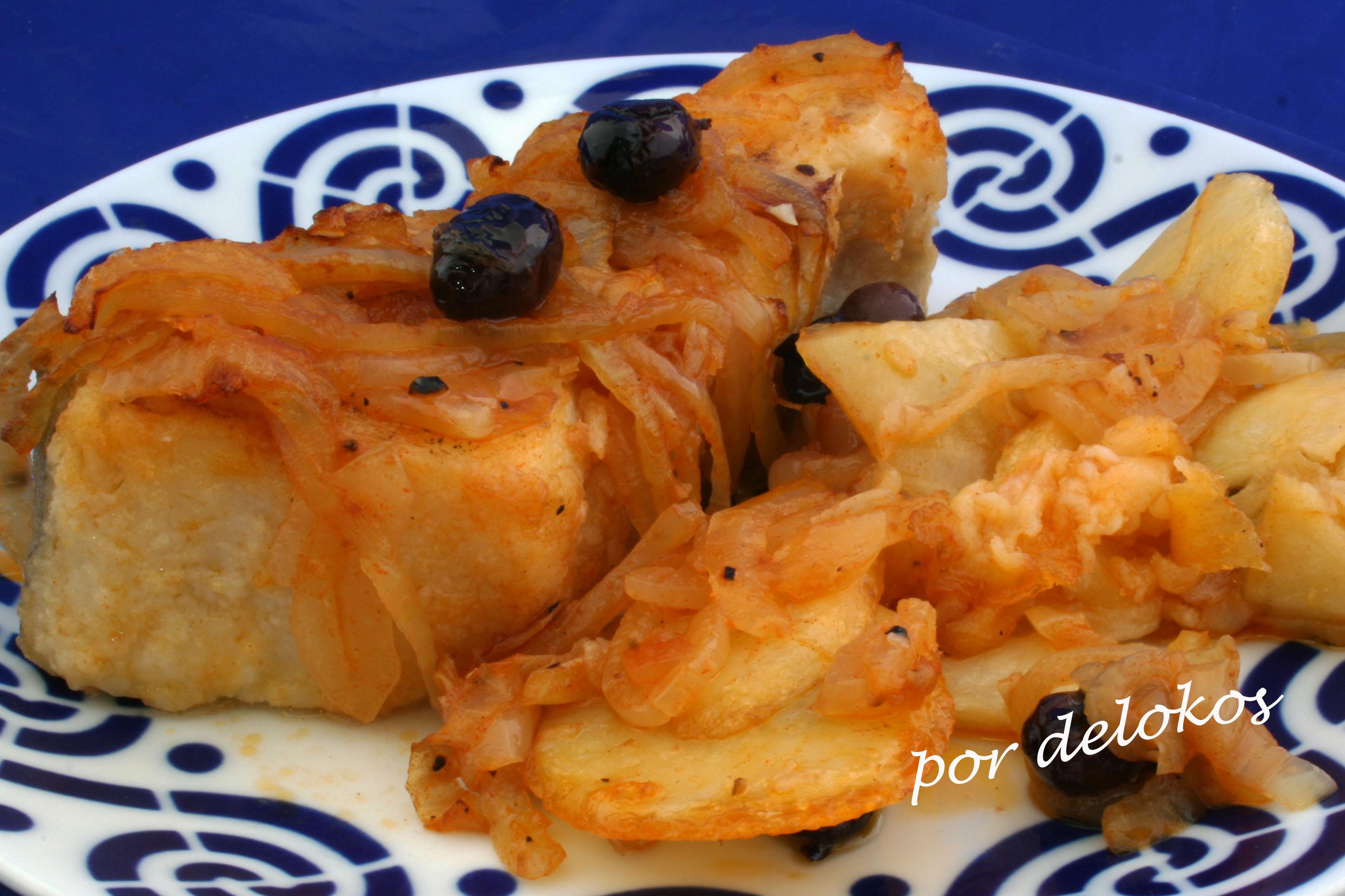 Bacalao al horno a la portuguesa delokos for Como cocinar lomos de bacalao