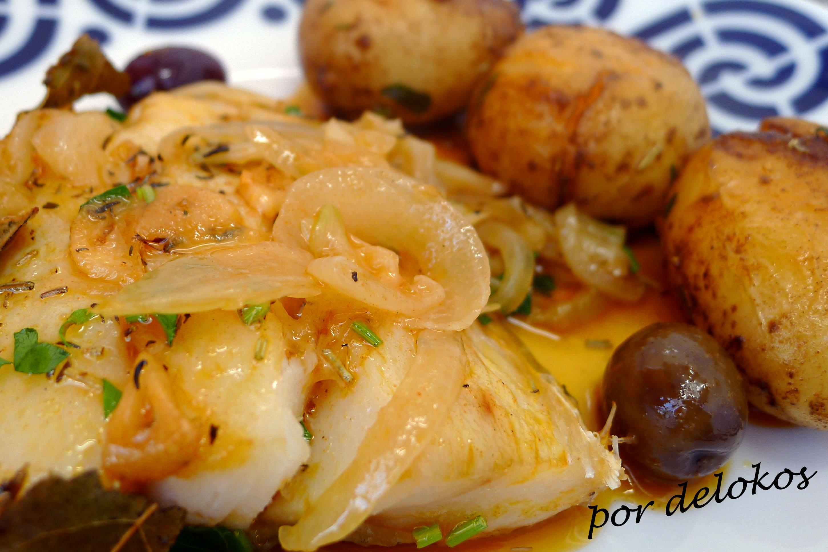 Bacalao al horno con patatas ao murro delokos for Cocina bacalao con patatas