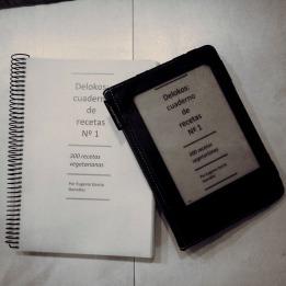 Cuaderno de recetas nº 1 - 300 recetas vegetarianas, por delokos