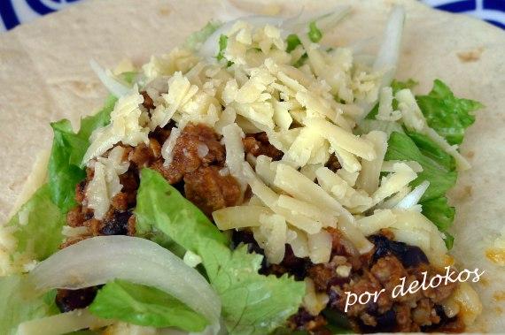 Burritos de chili con carne, por delokos