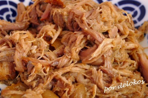 Pulled pork - Cerdo asado a baja temperatura, por delokos