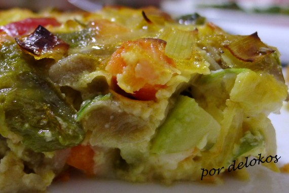 Fritatta de verduras, por delokos
