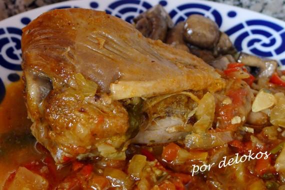 Pavo con hinojo y curry rojo, por delokos