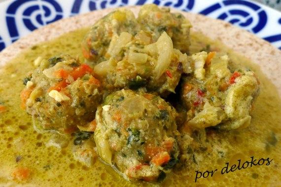 Curry de albóndigas vegetales de Ikea, por delokos