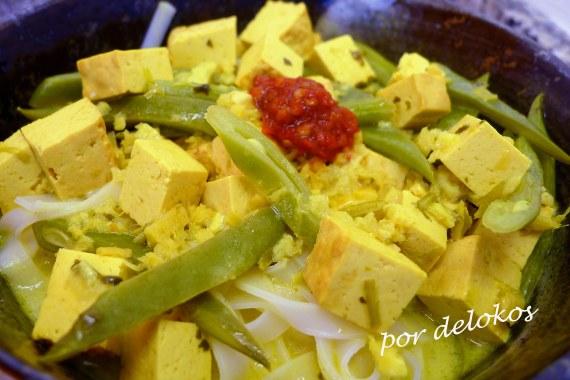 Laksa de tofu, por delokos