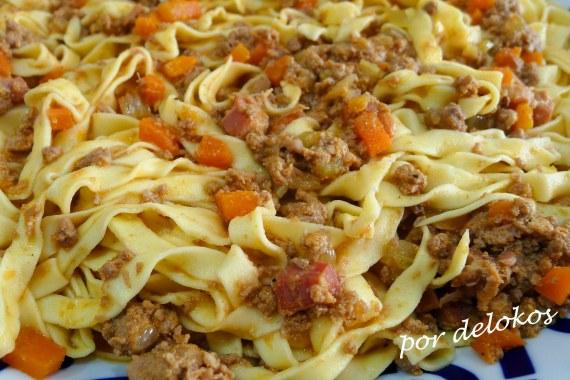 Ragú alla bolognese- Ragú a la boloñesa, por delokos