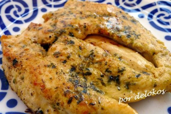 Pechuga de pollo a la lima, por delokos