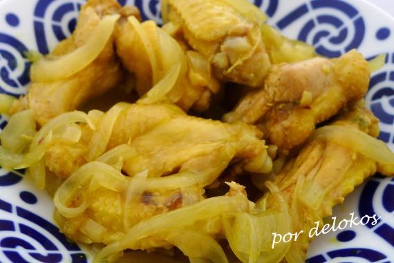 Alitas de pollo al Ras el Hanout, por delokos